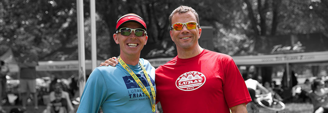 david sours and david glover at luray triathlon
