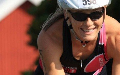 Krista Schultz racing in Luray Triathlon