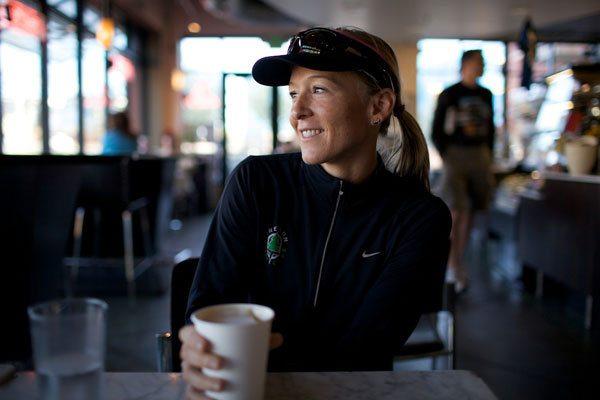 Krista Schultz in Amante Coffee Shop