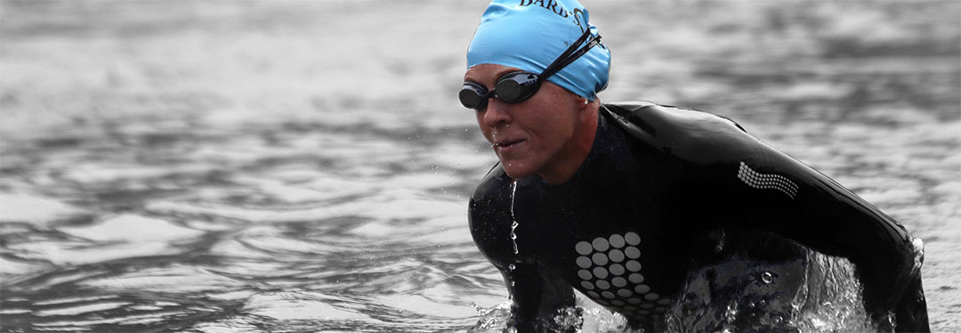 krista schultz exiting swim at vineman