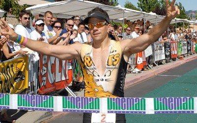 David Glover Vineman finish