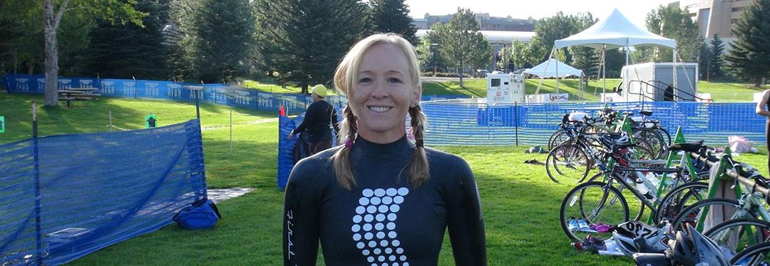 Krista Schultz triathlete at Bec Tri Triathlon