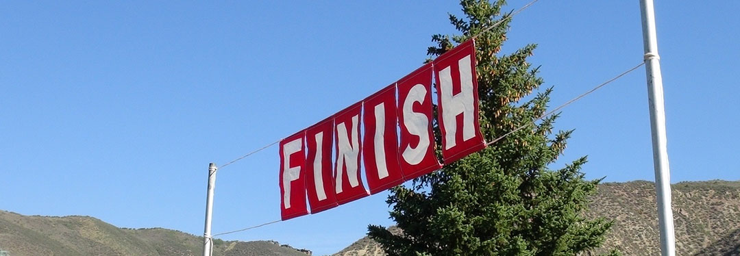 triathlon finish line
