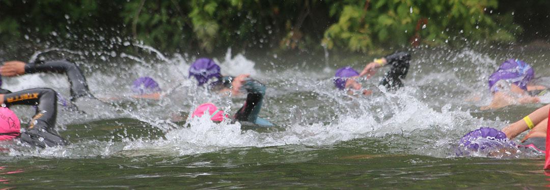 vineman triathlon swim start