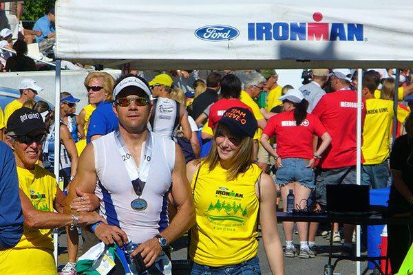 David Glover IRONMAN Coeur d'Alene CDA Triathlon finish