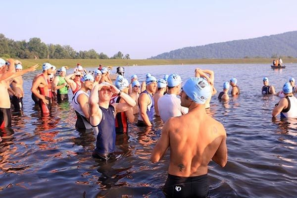 before start of luray triathlon swim