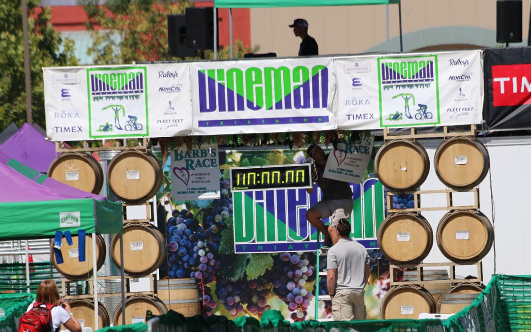 ironman vineman triathlon finish line