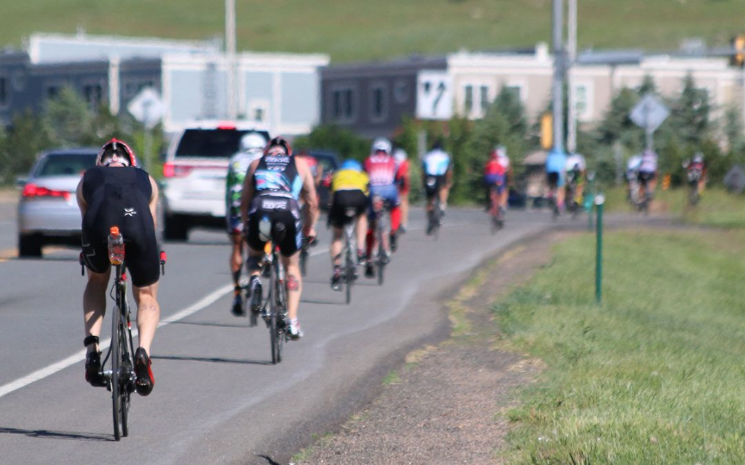 cyclists on highway 36 in boulder 70.3